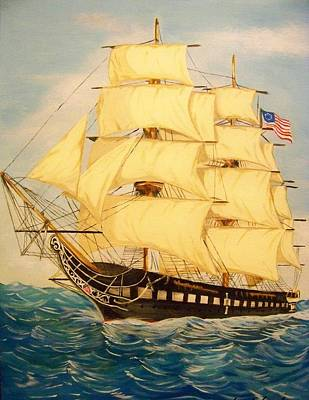 Uss Constitution Painting - Old Ironside - Uss Constit by Joseph  Armstrong
