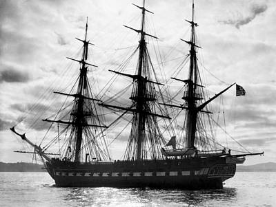 Tall Ships Photograph - Old Ironsides In Puget Sound by Underwood Archives