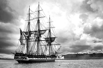 Frigates Digital Art - Old Ironsides by Peter Chilelli