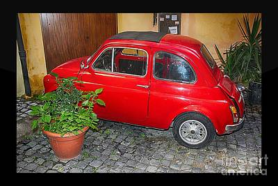 Domestic Cars Digital Art - Old Italian Car Fiat 500  by Stefano Senise