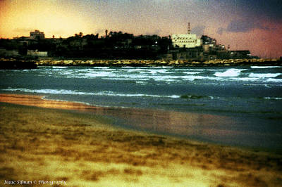 Old Jaffa In Storm 2 Art Print by Isaac Silman