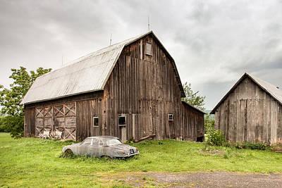 Old Barn Photograph - Old Jaguar Homestead - Vintage Americana by Gary Heller