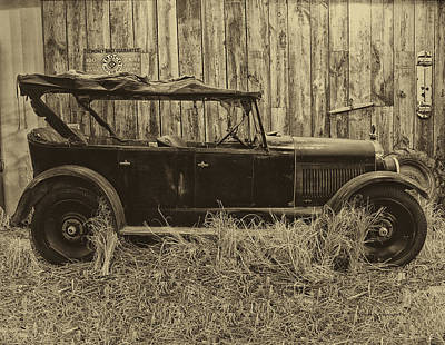Old Jalopy Behind The Barn Print by Thomas Woolworth