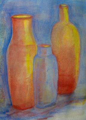 Painting - Old Jar And Bottles by Marian Hebert