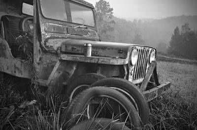 Old Jeep Art Print by Jerry Mann