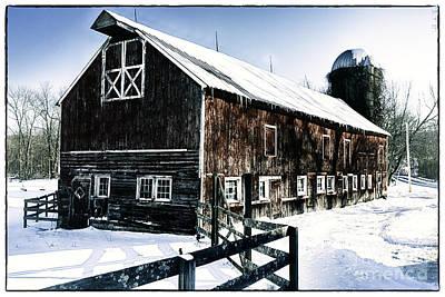 Old Jersey Farm In Winter Art Print
