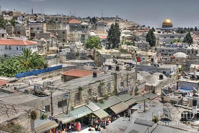 Photograph - Old Jerusalem Rooftops by David Birchall