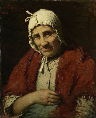 Jewish Art Drawing - Old Jewish Woman, Meijer Isaäc De Haan by Litz Collection