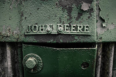 Photograph - Old John Deere Desaturated by Andy Crawford