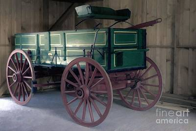 Photograph - Old John Deere Farm Wagon by Liane Wright