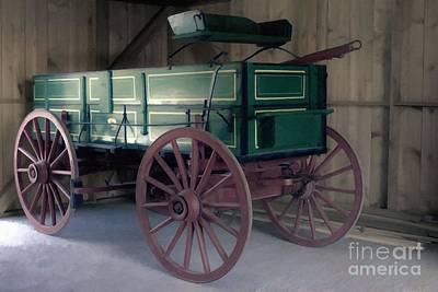 Photograph - Old John Deere Farm Wagon by Liane Wright
