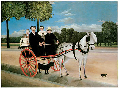 Horse And Buggy Painting - Old Junier's Cart by Henri Rousseau