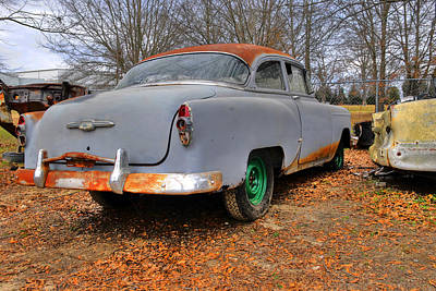 Photograph - Old Junked Chevy by Willie Harper