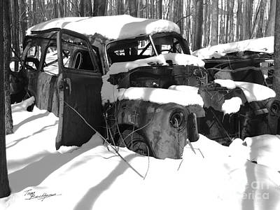 Photograph - Old Junked Truck In Snow by Tom Brickhouse