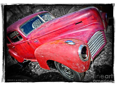 Classic Auto Photograph - Old Junker Car by Edward Fielding