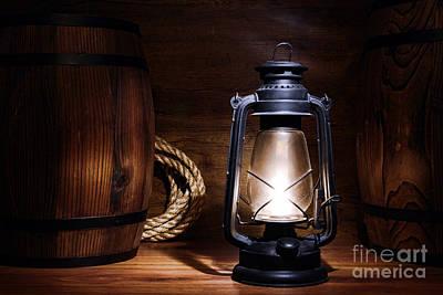 Kerosene Lamp Photograph - Old Kerosene Lantern by Olivier Le Queinec