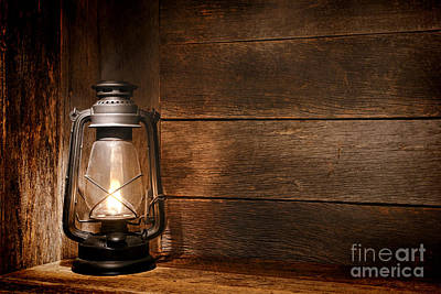 Wooden Floors Photograph - Old Kerosene Light by Olivier Le Queinec
