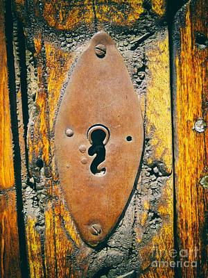 Old Key Hole Art Print