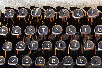 Typewriter Keys Photograph - Old Keyboard by Art Block Collections