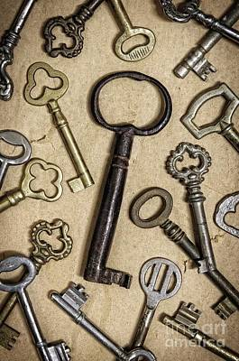 Bronze Photograph - Old Keys by Carlos Caetano