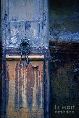 Old Keys Hanging On A Wall Art Print by Jill Battaglia