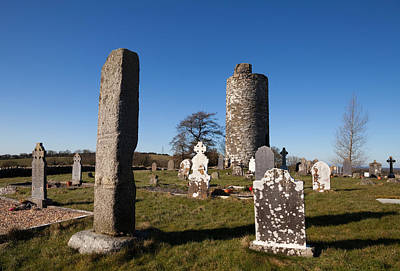 Monastic Photograph - Old Kilcullen Round Tower, County by Panoramic Images