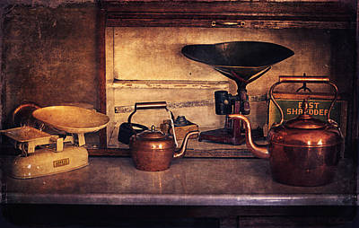 Teakettles Photograph - Old Kitchen Utensils by Maria Angelica Maira