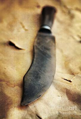 Still Live Photograph - Old Knife by Carlos Caetano