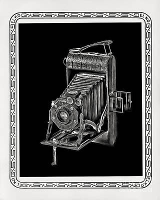 Photograph - Old Kodak Camera And Border by Walt Foegelle
