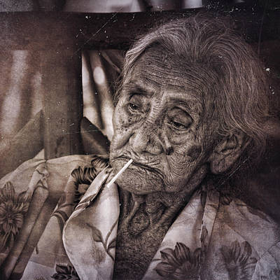 Photograph - Old Lady by Francesco Nadalini
