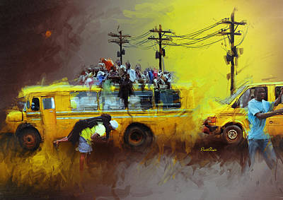 Old Lagos Art Print by David Osagie