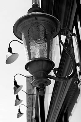 Photograph - Old Lantern 10 Black And White by Mary Bedy