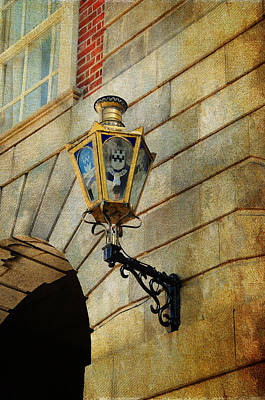 Photograph - Old Lantern. Dublin Castle. Streets Of Dublin. Painting Collection by Jenny Rainbow