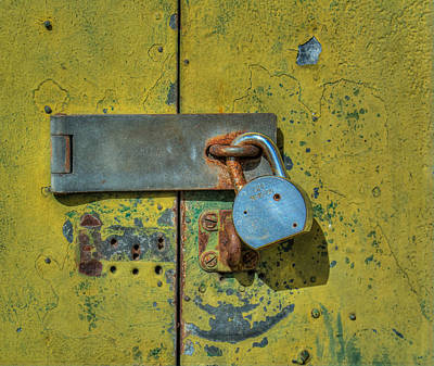 Photograph - Old Latch And Lock by James Hammond