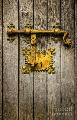 Old Latch Photograph - Old Latch by Carlos Caetano
