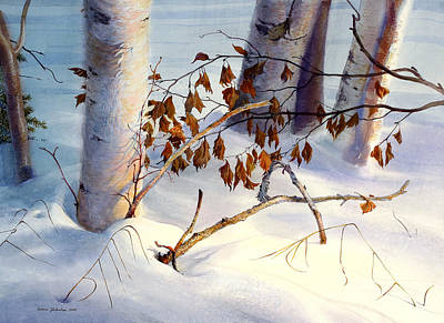 Snow Covered Ground Painting - Old Leaves by Vladimir Zhikhartsev