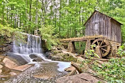 Mistletoe - Old Lefler Grist Mill by Gordon Elwell