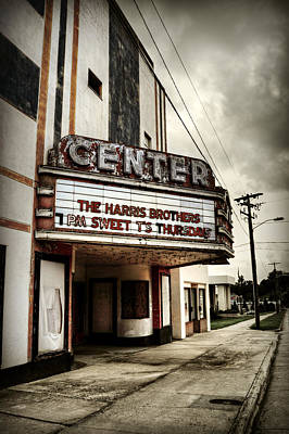 Photograph - Old Lenoir Nc Movie Theater by Amber Summerow