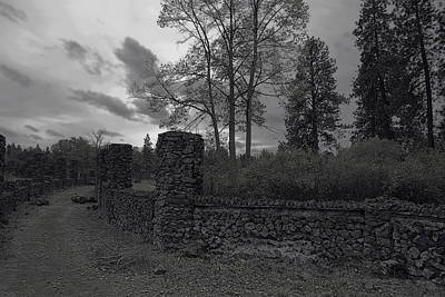Old Liberty Park Ruins In Spokane Washington Art Print by Daniel Hagerman