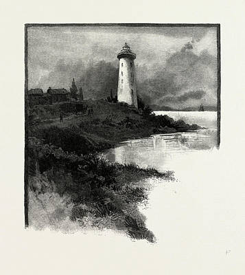 Prescott Drawing - Old Lighthouse, Prescott, Canada by Canadian School