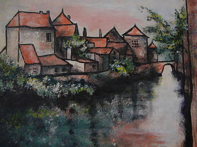 Old Little Village Art Print