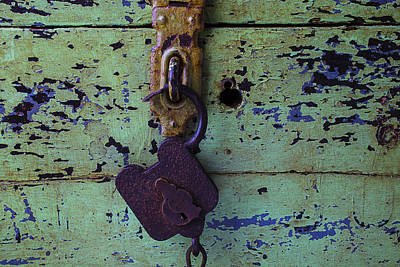 Photograph - Old Lock And Green Box by Garry Gay