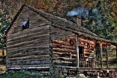 Old Log Cabin Original by Brian Cole