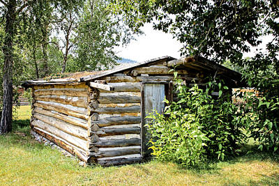 Photograph - Old Log Homestead IIi by Athena Mckinzie
