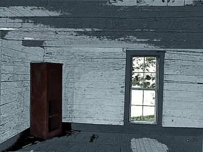Old Log House Interior Art Print