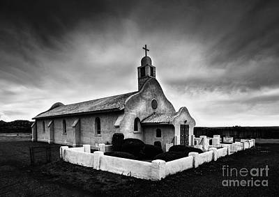 Photograph - Old Lone Spanish Adobe Catholic Church San Ysidro New Mexico by Jerry Cowart