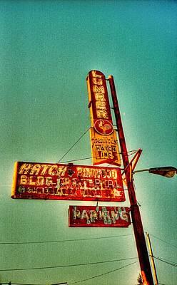 Photograph - Old Lumberyard Sign - Portland Oregon by HW Kateley