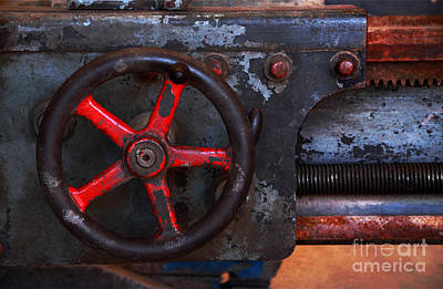 Photograph - Old Machine Tool by Charline Xia