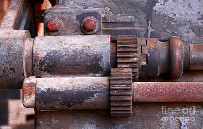 Photograph - Old Machine Tool Gears by Charline Xia