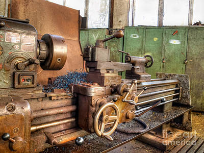 Lath Photograph - Old Machinery by Sinisa Botas